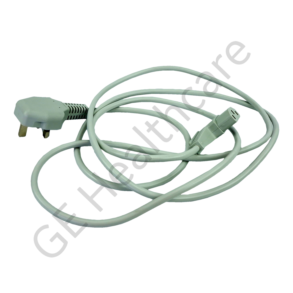 Power Cord UK Right Light Gray